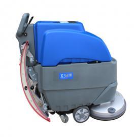 X3d手推式洗地机 威卓电瓶式工业洗地吸干机