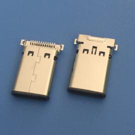 TYPE-C 双贴公头 24P 外露11.0 USB3.1双排贴板公头