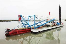 河道清淤500方�g吸式挖泥船 河道泥沙�g吸式清淤船