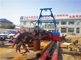 10寸泵150方挖泥船 河道清淤150方绞吸式挖泥船材质