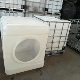 650大口径塑料吨桶彼此集装桶方形周转运输桶耐酸碱