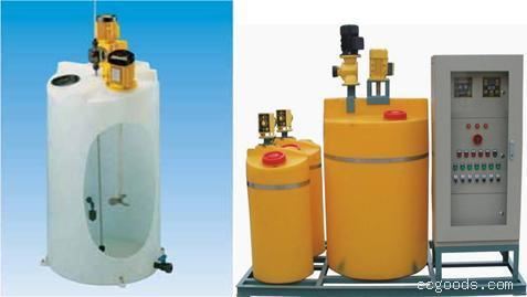 500L PE锥底搅拌桶(一次排空) 母液搅拌罐 软化合成加药箱设备