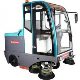 工厂车间小区物业电动清扫车工业KL2100驾驶式全封闭扫地机