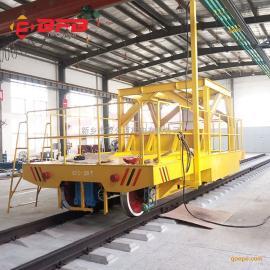 KPC滑触线式25吨轨道地平车图纸30吨轨道式柴油发电机轨道车