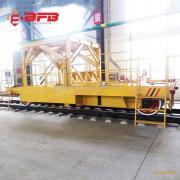 现货直销85吨铁水过跨搬运车65吨弧形电动平板车
