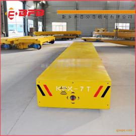 食品厂搬运专用电动轨道蓄电池平板车 电动牵引平板车