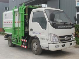 福田柴油侧挂桶垃圾车 5方自装卸垃圾车市政环卫小区垃圾清运车