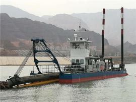 350立方铰刀式抽沙船工作 永胜14寸铰刀式抽沙船