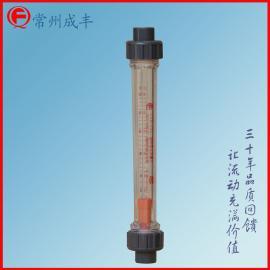 塑料管流量计 双由令固管螺纹接口 安装方便可靠