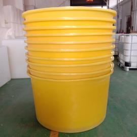 M1000L食品级塑料圆桶养殖桶海带周转桶牛筋材质
