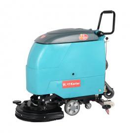 水果市场用洗地机手推式KL530洗地拖地洗地机油污地面清洗机