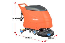 X2全自动电瓶洗地机工厂手推式刷地拖地机地板地面吸干清洗机