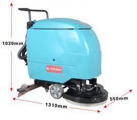 凯叻KL520手推式地面清洗机全自动洗地机电瓶式洗地吸干机擦地机