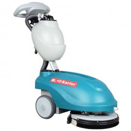 折叠式KL350工业洗地机自动工厂地板手推拖地机小型电瓶式洗地机