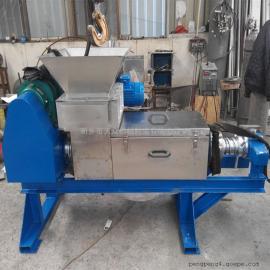 小型餐厨垃圾脱水机潲水泔水固液分离机 双螺旋压榨机
