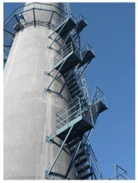砖烟囱安装包箍 砖烟囱安装 砖烟囱安装检测平台公司
