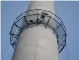 砖烟囱安装护网 砖烟囱安装平台 砖烟囱安装爬梯公司