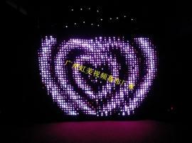 虹美HM-L306BW双层防火天鹅绒婚庆酒吧背景幕布LED全彩视频幕布