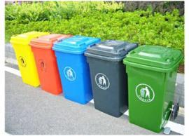 小区塑料挂车垃圾桶-公共市政环卫垃圾桶