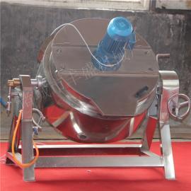 可倾搅拌夹层锅 卤味熟食生产线 酱板鸭卤味夹层锅