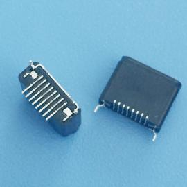 IPHONE 苹果母座 8P 贴片 H=6.5 弯角 全塑黑胶