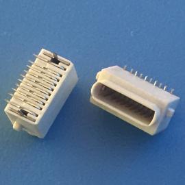 全塑白胶小母座 8P 立式贴片 苹果母座 DIP+SMT
