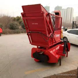倒地秸秆粉碎回收机 自走式秸秆回收机报价 二次粉碎可选