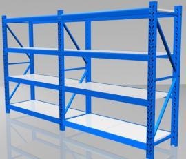 仓库轻型货架、利欣500公斤承重货架、四层层板货架规格