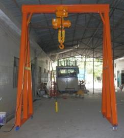 车间移动式龙门架定制,利欣重型葫芦龙门架规格