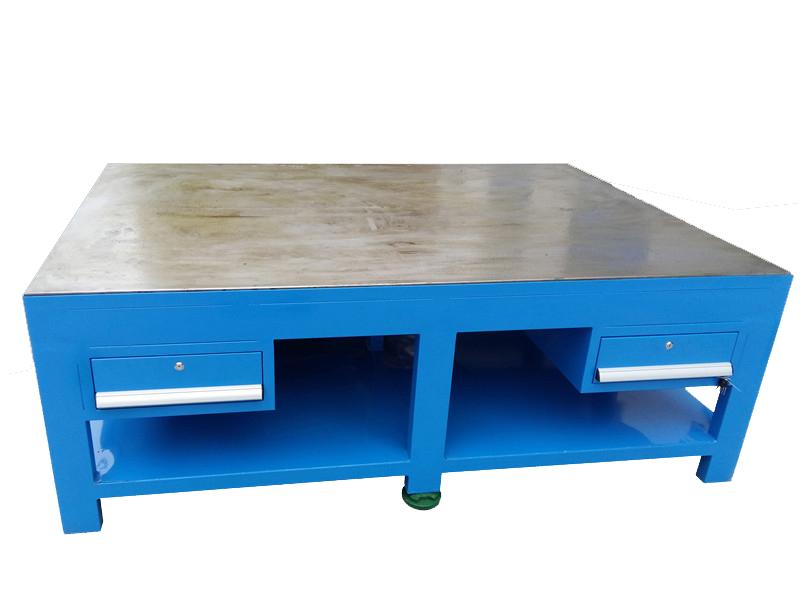加厚钢板模具平台、利欣模具组装台、虎钳钳工桌、灯架省模台