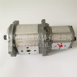 意大利Marzocchi双联齿轮泵ALPA3A-D-50-S1-E + ALPP2-D-25
