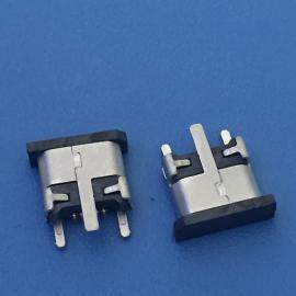 MICRO USB 5P贴板式B款 直边 180度立式SMT 贴片 B母充电接口