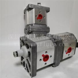 意大利Marzocchi耐磨高压双联齿轮泵ALPA3-D-94+ALPP3-D-94