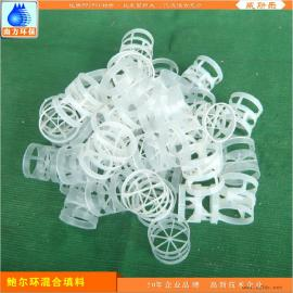 鲍尔环聚丙烯塑料填料 多面空心环保球 填充球混合PP|PVC填料