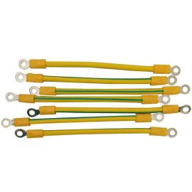 黄绿双色光伏板接地线4平方纯铜6平方光伏组件接地线桥架接地线