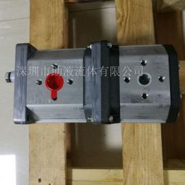 意大利Marzocchi耐磨高压双联齿轮泵ALPA2-D-40+ALPP2-D-34