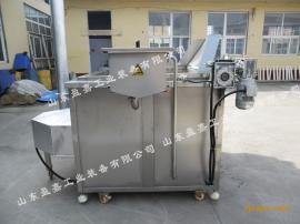 馓子燃气油炸机 自动过滤油水混合油炸机