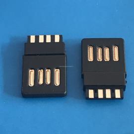 USB AM 4Pin 公�^ �p面插 正反插 全塑型 金手指 焊�式 黑�z