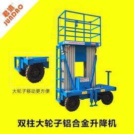 君道6米双柱大轮子升降机移动方便gtwy6-200