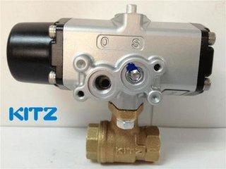 KITZ C-TNE青铜三通气动球阀KITZ气动阀北泽气动阀 库存