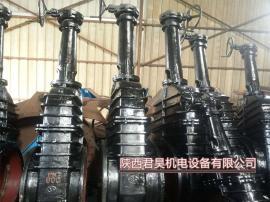 水库放水闸板阀Z945T-10污水管网镶铜法兰闸阀 铸铁电动闸门