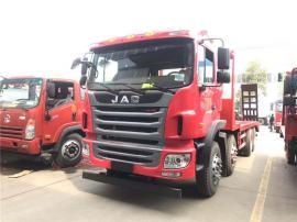 江淮格尔发k5前四后八平板运输车大型挖机拖车