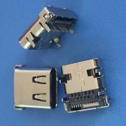 TYPE-C 24P 90度插板DIP+SMT 加�L款有�� L=9.87 板上3.31MM