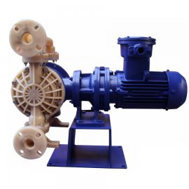氟塑料电动隔膜泵 全氟电动双隔膜泵 防爆隔离泵