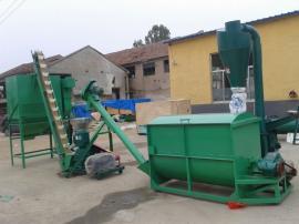 玉米饲料机组型号 多功能秸秆饲料机组图片 提供安装技术