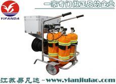 消防移动式长管呼吸器、石油化工电厂车间车载立式四瓶移动供气源