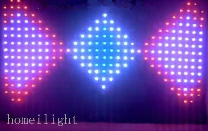 LED �屏幕布舞�_�艄�P18cm��l布LED��l幕布RGB��l幕布彩幕