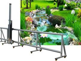 广~东一种在墙上喷画的机器叫做墙体彩绘机