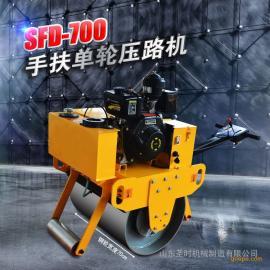 专业生产手扶双轮压路机 手扶式小型压路机 振动式压路机