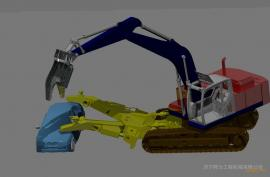 报废车拆解机 多功能拆解机 金属拆解机 挖掘机变身拆车机